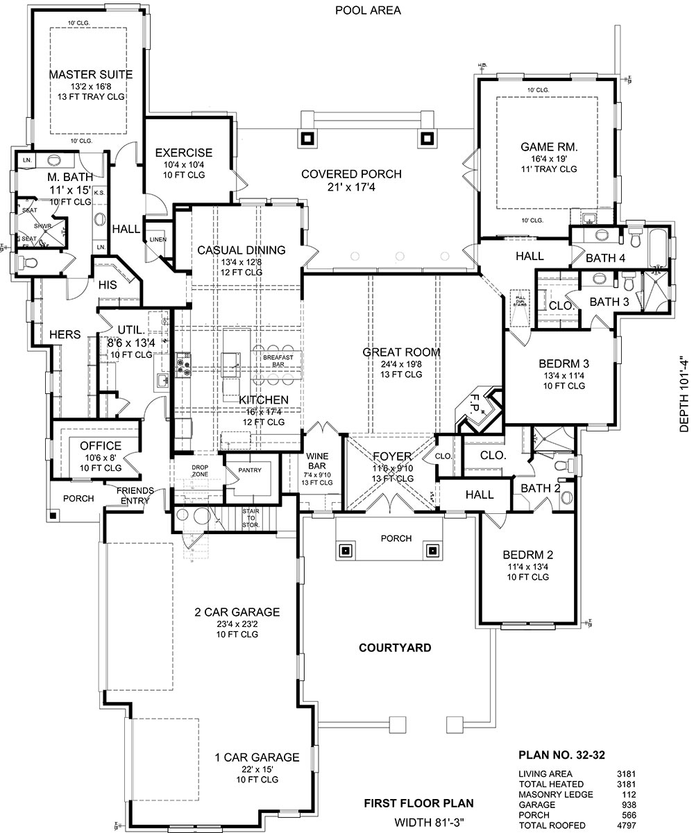 Quote form for plan 32 32 belk design and marketing llc for Larry e belk home designs